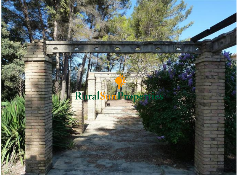 Country Estate for sale Alicante in the mountain of La Font Roja with beautiful 29 ha. of forest and labor