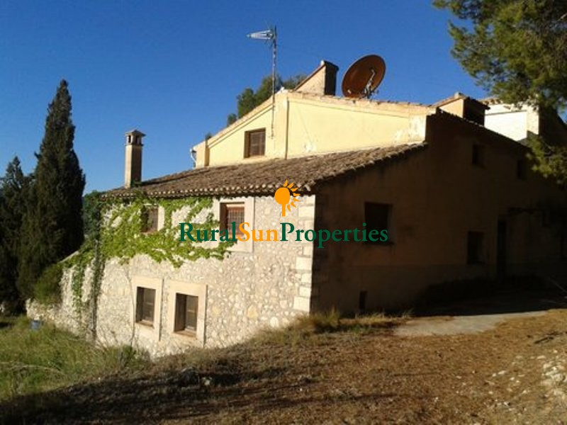 Old restored farmhouse Masia on a plot of 5ha Alicante Inland. Olive trees in production