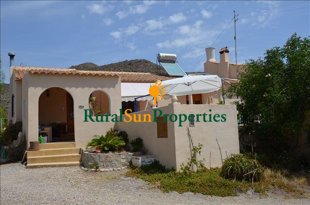 Country house for sale in Mazarron with pool, sea views.