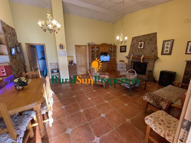Bullas country house for sale fenced plot of 22,000m². Ready for living.